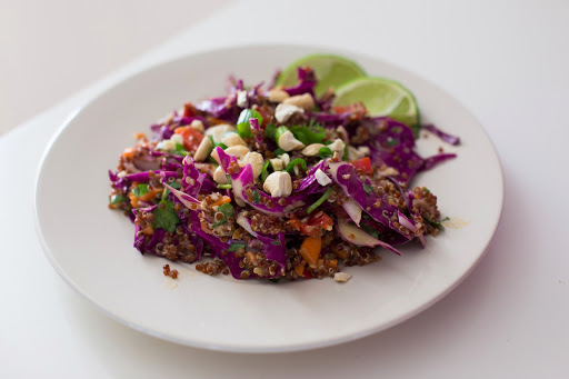 Vegetarian Thai Quinoa Salad--Prep on the weekend for Easy Week day Meal